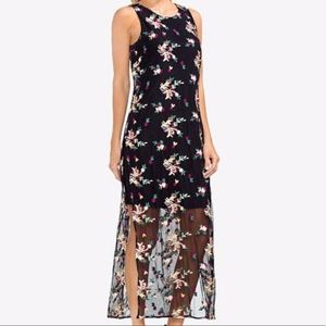 NEW Vince Camuto Embroidered Mesh Maxi Dress